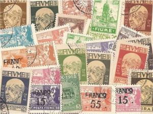 Fiume Stamp Collection - 25 Different Stamps