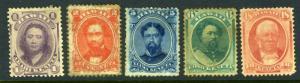Hawaii #30-34 Kings & Queens (MINT Hinged - #34 no gum :() CV$391.00