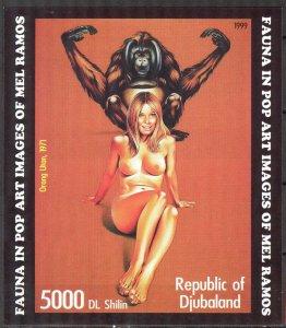 Djubaland 1999 Pop Art (3) MNH Cinderella !