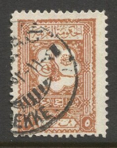 SAUDI ARABIA Nejd 1926 Sc 104, Used, F-VF, Scarce MEKKE cancel