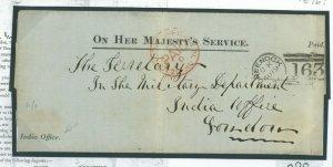 GB SCOTLAND Letter INDIA MUTINY PRIZE CLAIM Historic Military GREENOCK 1876 90.7