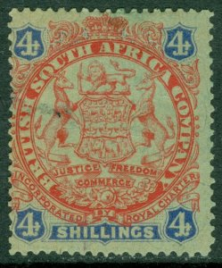 EDW1949SELL : RHODESIA 1896 Scott #37 Mint Original Gum. Thin. Catalog $65.00.