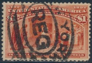 #241 VF USED WITH REGISTERED NEW YORK CANCEL CV $600 BT2488