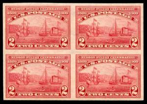 momen: US Stamps #373 Mint OG NH Block of 4 XF