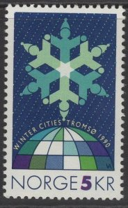 NORWAY SG1071 1990 WINTER CITIES EVENTS MNH
