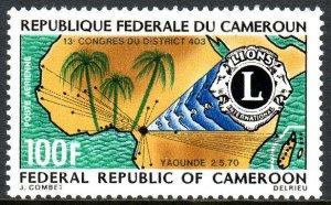 Cameroun C142, MNH. Lions Intl. Congress, Yaounde. Map of Africa, Emblem, 1970