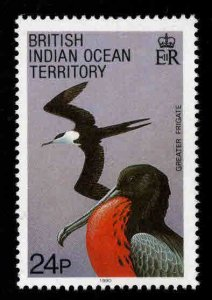 British Indian Ocean Territory BIOT Scott 96 MH* Frigate Bird stamp