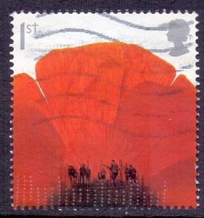 Great Britain 2008 used Armistice  1st   soldiers in poppies    #