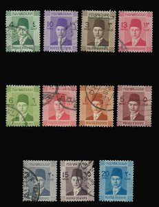 EGYPT 206-216, USED