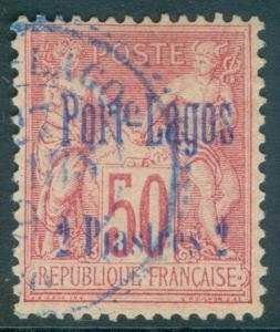 FRENCH PORT LAGOS : 1893. Yvert #5 Extra, Used. Beautiful stamp. Catalog €105.00