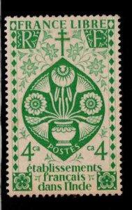 FRENCH INDIA  Scott 145 MH* Lotus Flower stamp