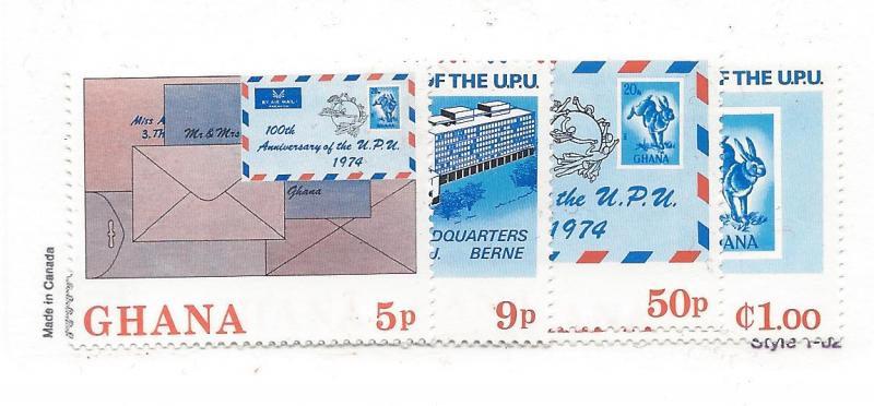 Ghana,512-15,Universal Postal Union (UPU) Singles,**MNH**