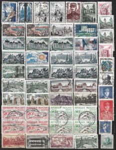 COLLECTION LOT OF 52 FRANCE 1943+ STAMPS CLEARANCE