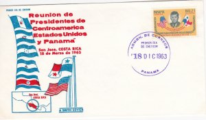 Panama # C294, John F. Kennedy & Flags, First Day Cover
