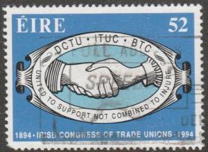 Ireland, Scott# 922, used, hands on stamp, Irish congress Trade/Unions,  #m041