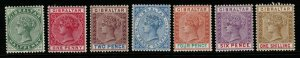 GIBRALTAR SG39/45 1898 CURRENCY CHANGE SET MTD MINT