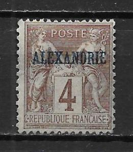 France Offices in Egypt - Alexandria 4 4c Commerece single MH