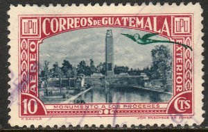 GUATEMALA C116, 10c MONUMENT. USED.F-VF. (11)