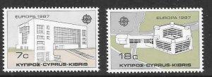 CYPRUS SG704/5 1987 EUROPA MNH