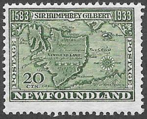 Newfoundland Scott Number 223 F H
