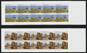 Iceland 883a-4a Booklets MNH National Parks