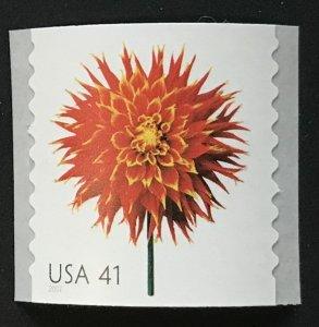 US MNH #4167 Coil Single Dahlia Beautiful Blooms SCV $2.00