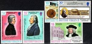British Virgin Islands #249-53  MNH (V6085)