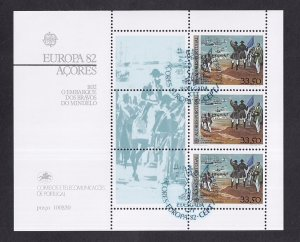 Portugal Azores  #333a  cancelled 1982  Europa sheet heroes of Mindelo