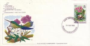Montserrat FDC SC# 497 Blue Headed Hummingbird L234