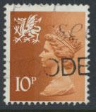Great Britain Wales  SG W29 SC# WMMH13 Used  see scan 1 center band