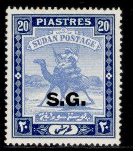 SUDAN GVI SG O42, 20p pale blue & blue, M MINT. Cat £38.