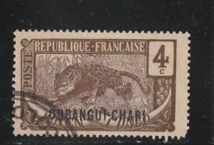 Ubangi-Shari  Scott#  25  Used
