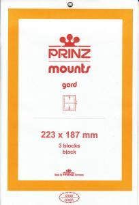 PRINZ BLACK MOUNTS 223X187 (3) RETAIL PRICE $10.50