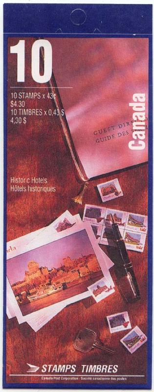 Canada - 1993 Historic CPR Hotels Booklet #BK160a