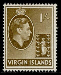 BRITISH VIRGIN ISLANDS GVI SG117a, 1s olive-brown, M MINT.