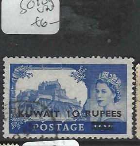 KUWAIT  (P0903B)  ON  GB QEII 10R/10/-  SG 109  VFU