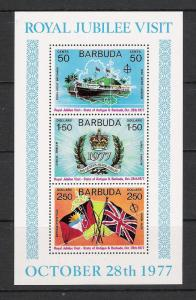 Barbuda #304a Silver Jubilee Souvenir Sheet MNH