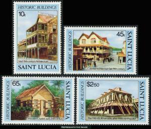 Saint Lucia Scott 645-648 Mint never hinged.