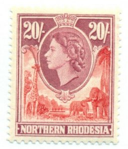 NORTHERN RHODESIA #74, Mint Hinged, Scott $23.20