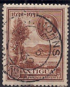 Antigua 1932 KGV 1 1/2d Brown Old Dockyard used SG 83 ( K1495 )