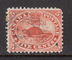 Canada #15 Used With 4 Ring 51 Brockville Cancel