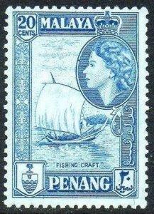 Penang 1957 20c Fishing prau MH