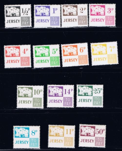 Jersey J7-20 NH 1971-75 Postage Dues