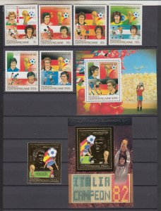 Z4078,1983 central africa set mnh #584b-584j sports