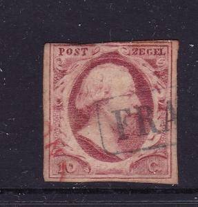 Netherlands an old Imperf 10c used