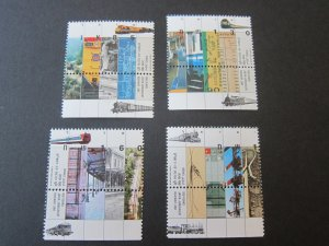 Israel 1992 Sc 1115-8 Train set MNH