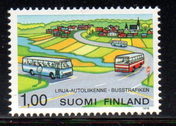 Finland Sc 610 1978 Rural Bus Service stamp NH