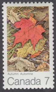 Canada - #537  Maple Leaves In Four seasons - Autumn - MNH