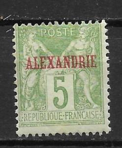 France Offices in Egypt - Alexandria 5 5c Commerece single MH