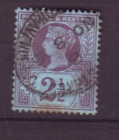 J19309 Jlstamps 1887 great britain used #114 queen